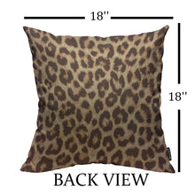 Load image into Gallery viewer, Mugod Throw Pillow Cover Classic Brown Leopard Print Home Decorative Linen Square Pillow Case for Men Women Boy Gilrs Bedroom Livingroom Cushion Cover 18x18 Inch Pillowcase