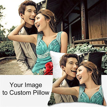 Load image into Gallery viewer, Aonp Novelty Cotton Throw Pillowcase Add Picture Text Logo Custom Your Own Funny Cushion Covers Personalized Gifts