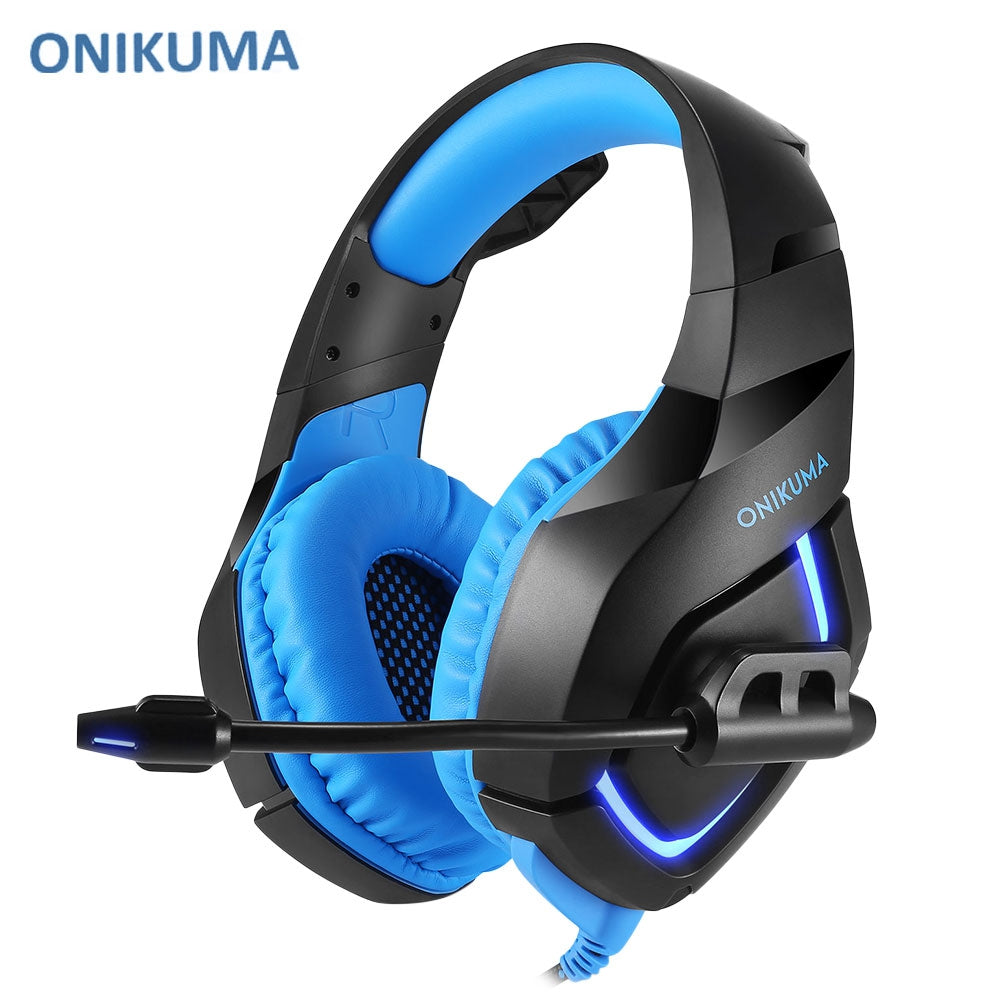 ONIKUMA K1 LED Light Gaming Headset with Mic