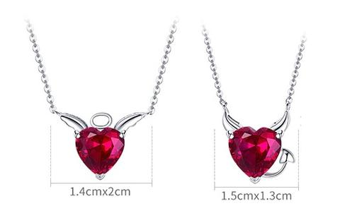 collier ange diable