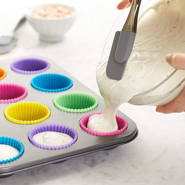 Nivohome™ 12Pcs Cupcake Silicon Baking Molds