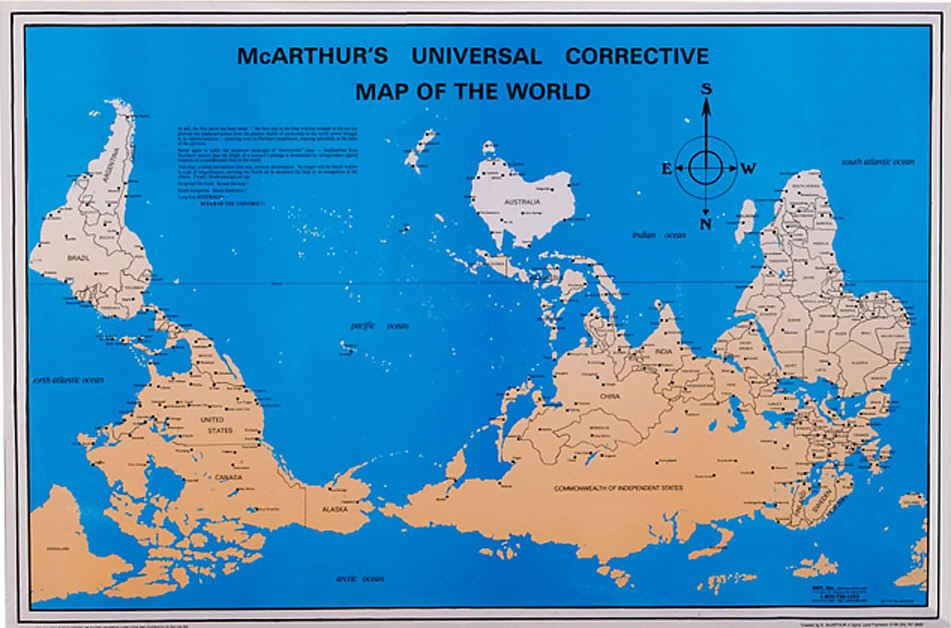 McArthur´s Universal Corrective Map - 23x35 Paper Folded