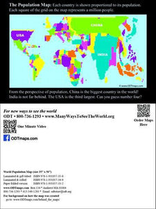 "Population Map Post Cards 4x6""- 25Pack"