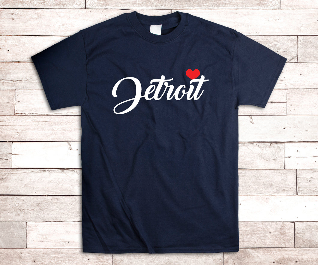 Detroit with Heart Shirt