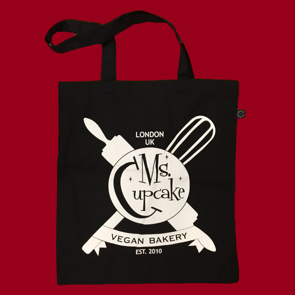 Tote Bag, Black, Reusable, Branded, Ms. Cupcake