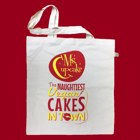 Tote Bag, Ms. Cupcake, Reusable, Cream, Branded