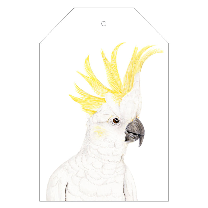 Connie the Cockatoo Gift Tags - For Me By Dee