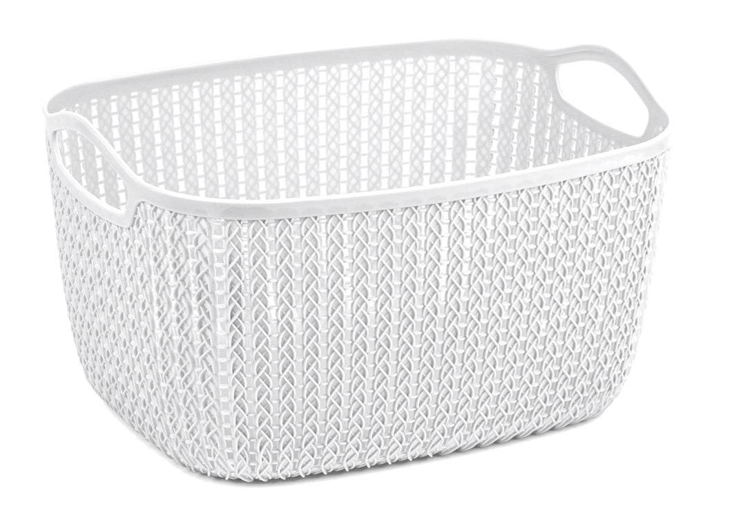 Lace Storage Basket 20L White