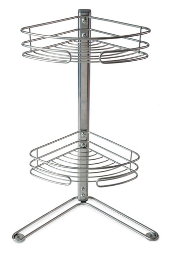 Ascott Corner Freestanding Shower Caddy Silver