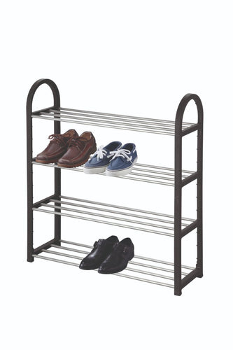 4 Tier Shoe Rack - Black