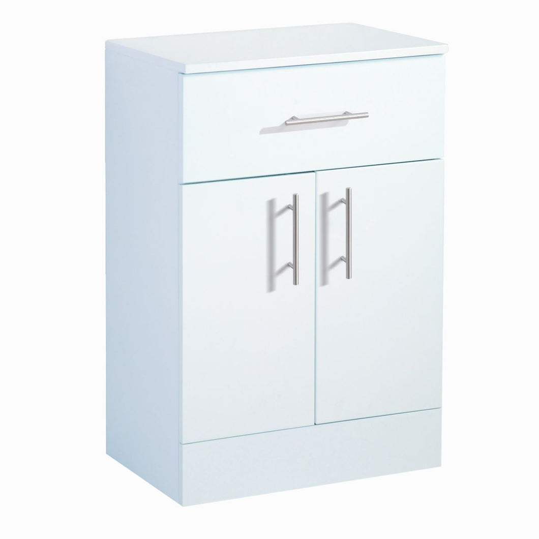 Canterbury Floor Cabinet Single Drawer High Gloss White
