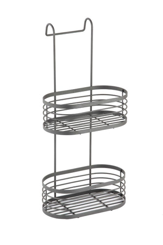 2 Tier Over Shower Screen Caddy - Grey