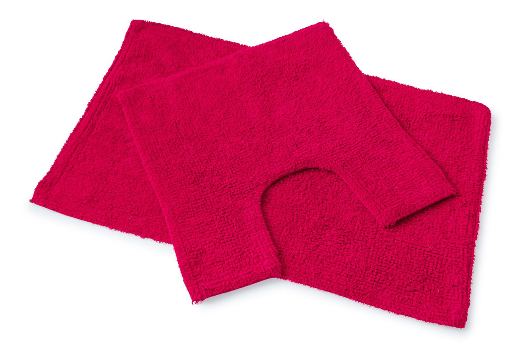 Premier 2Pc Bath Set Deep Red