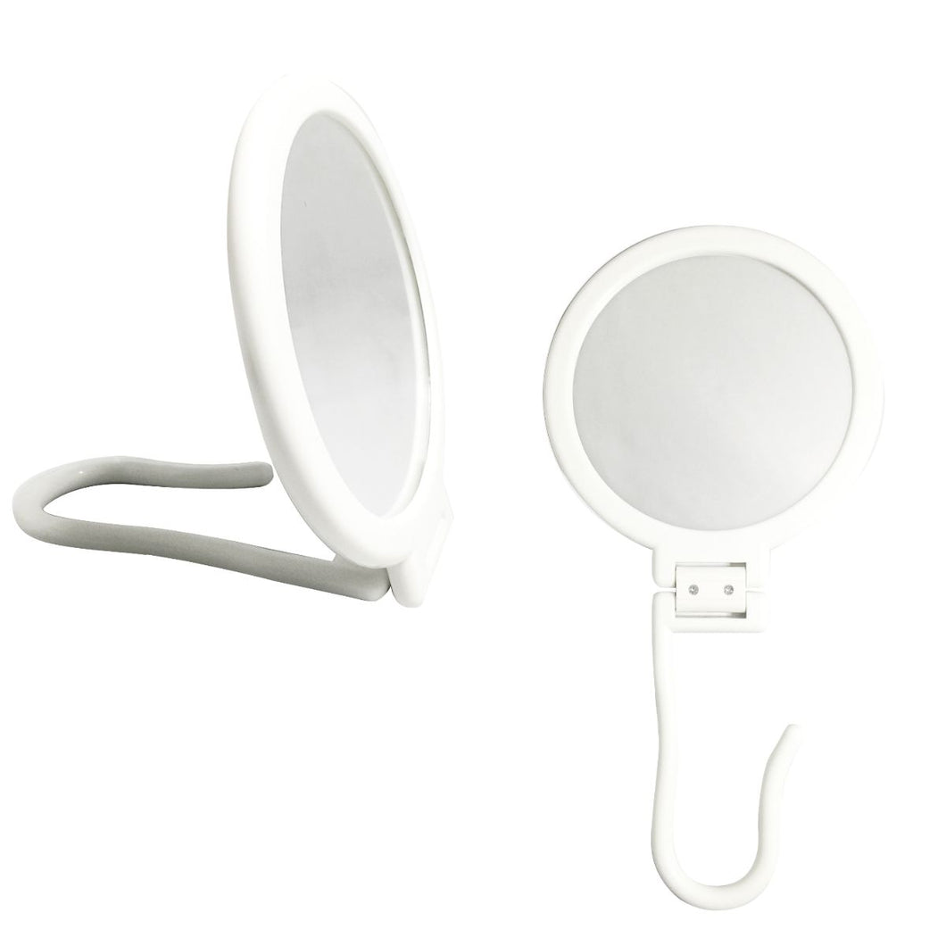Round Mirror with Hook White