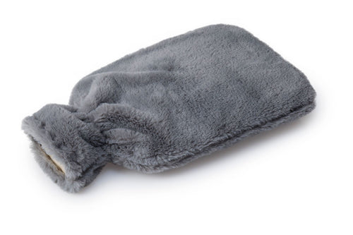 2L Hot Water Bottle + Fur Cover Slate