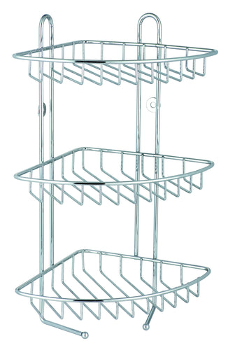 3 Tier Corner Shower Rack Stainless Steel**
