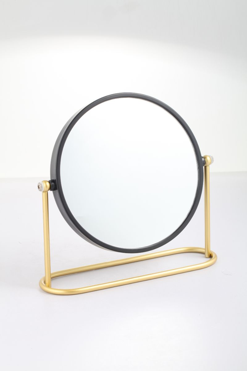Matt Gold & Black Standing Mirror