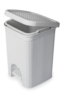Lace Design 5L Pedal Bin White