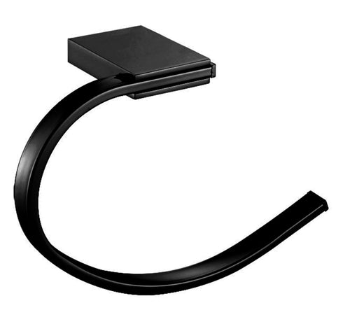 Albany Black Towel Ring