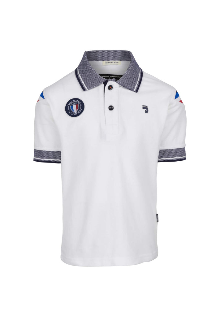 Polo Enfant Collector 10 White France