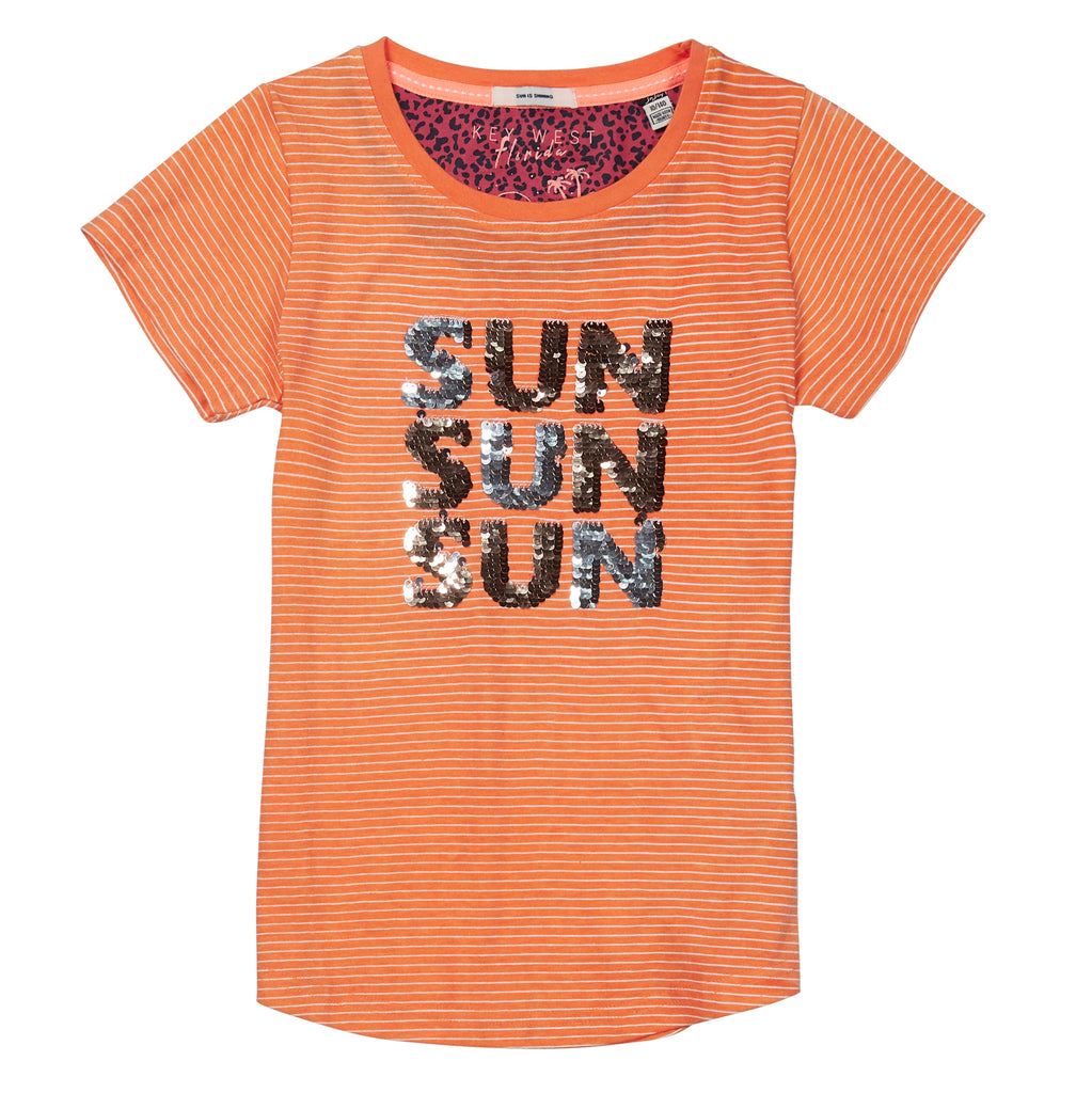 jandjoy | T-Shirts - T-Shirt Fille 01 Sunset Magic Sequins.