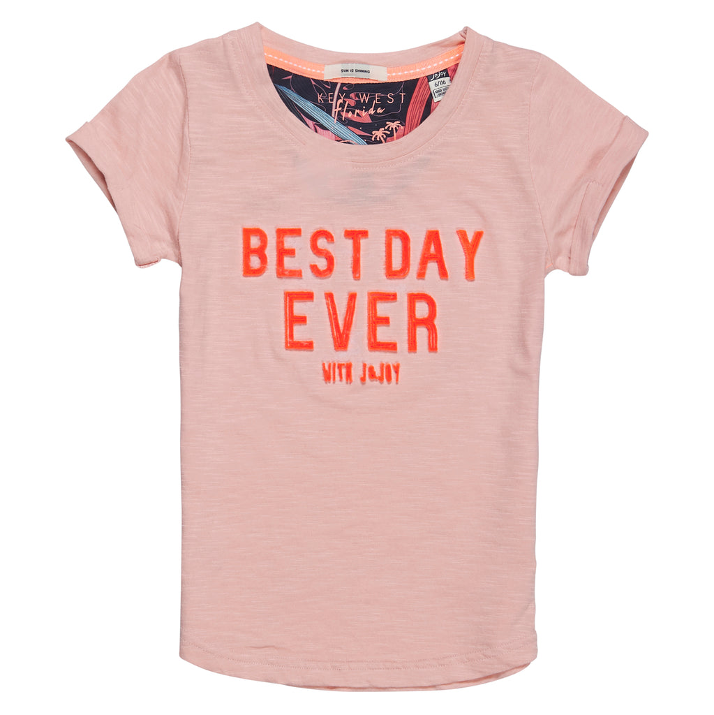 T-Shirt Fille 02 Sunset Best Day Ever
