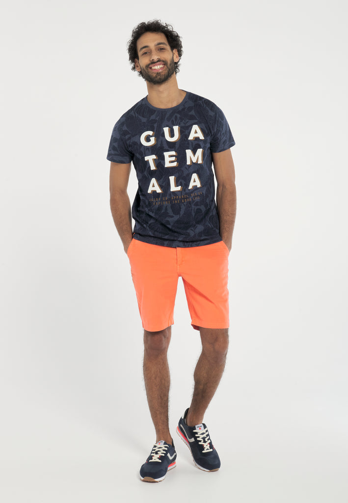 Short Chino Homme 01 Corail