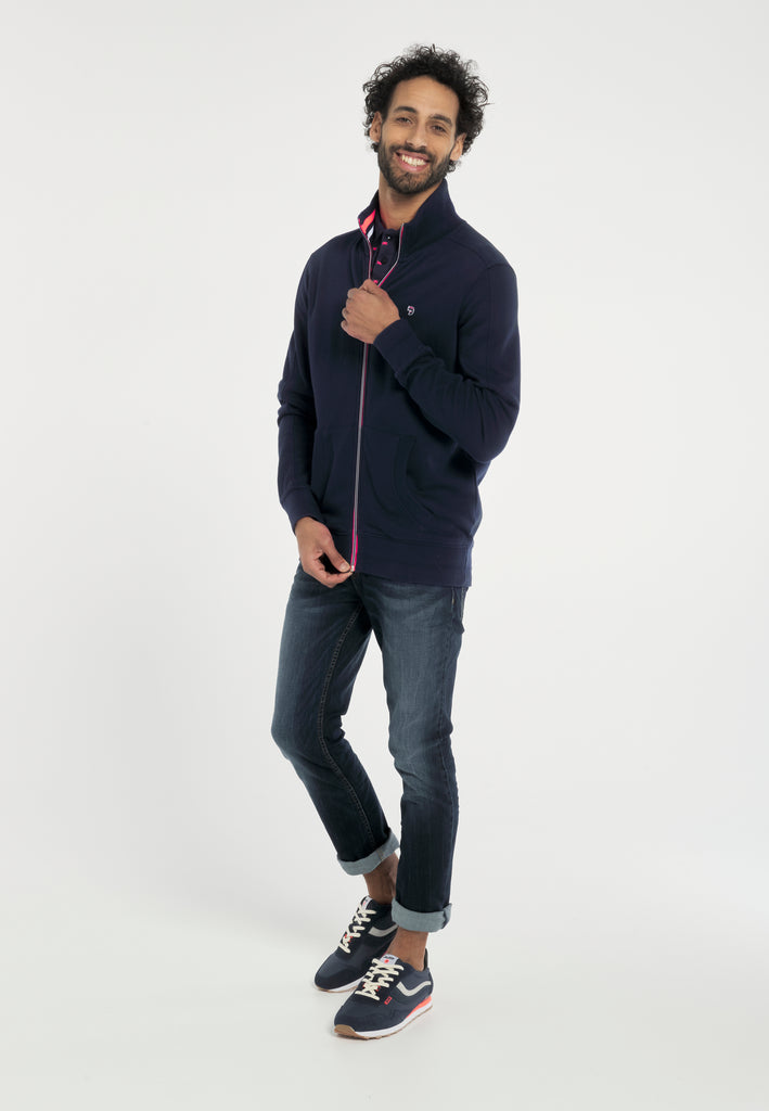Sweat Homme 26 Portland Navy Full Zip