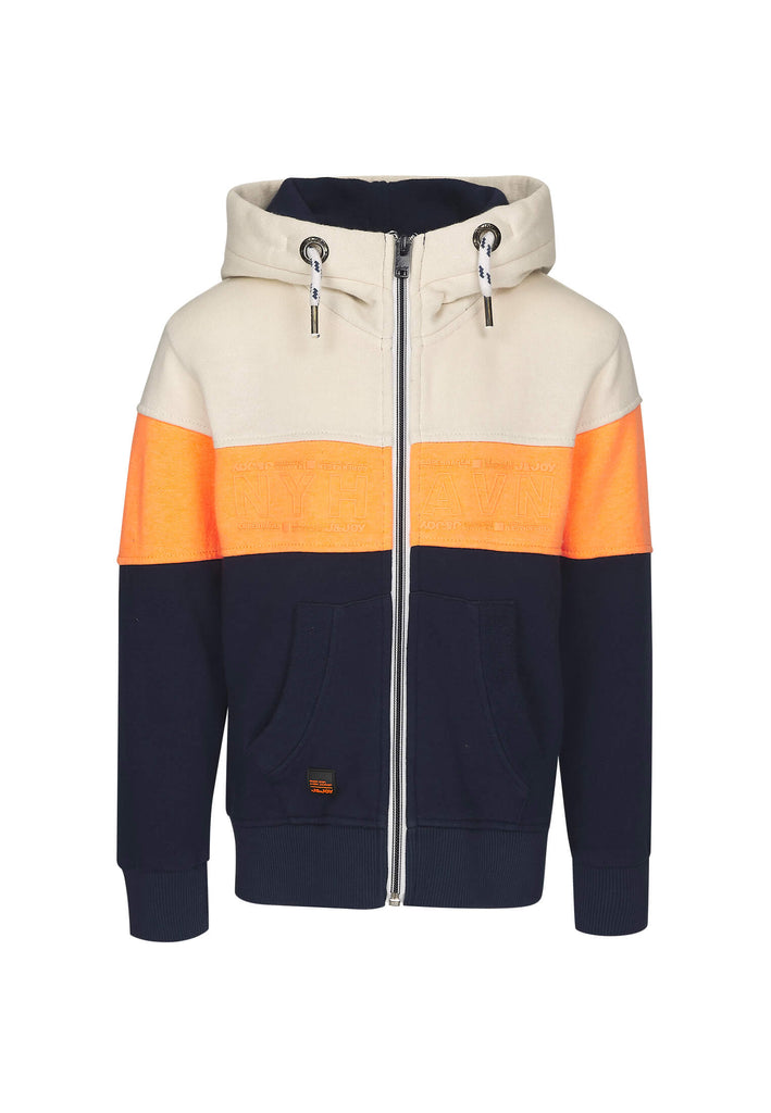 Sweatshirt Garçon 06 Nyhavn Stripes Orange Blue