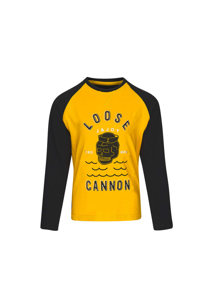 T-Shirt Garçon 02 Fisherman Yellow Skull