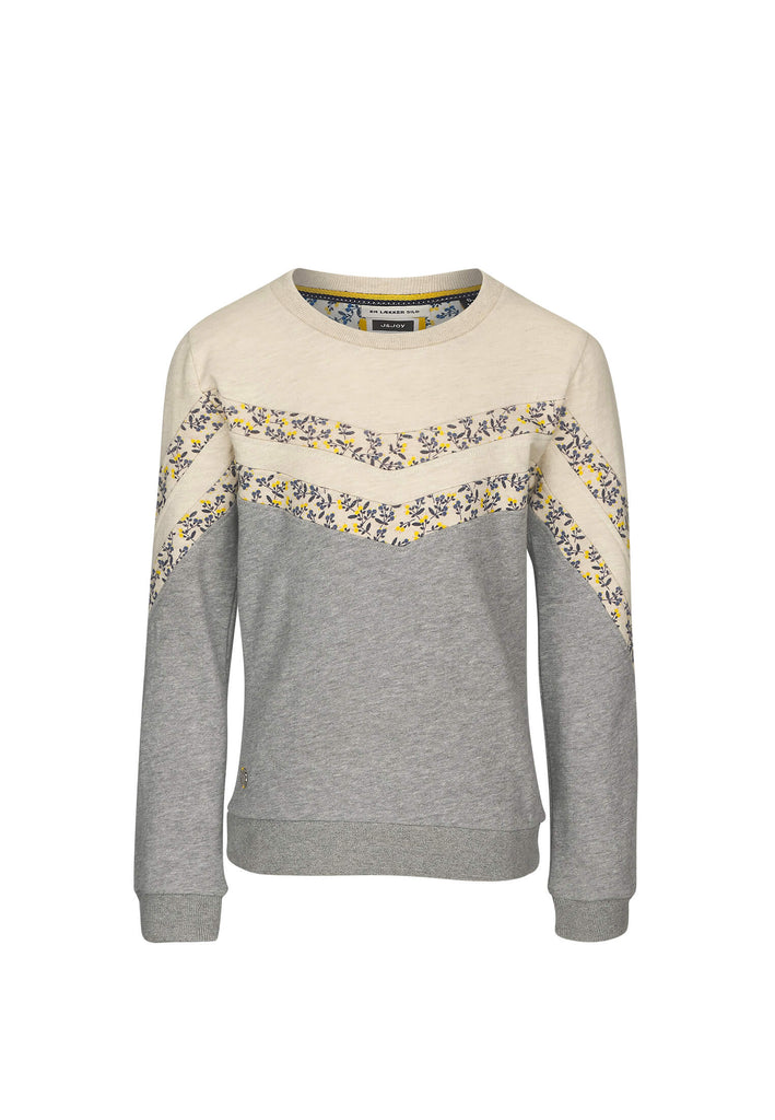 Sweatshirt Fille 04 Sea Side Grey-White-Yellow