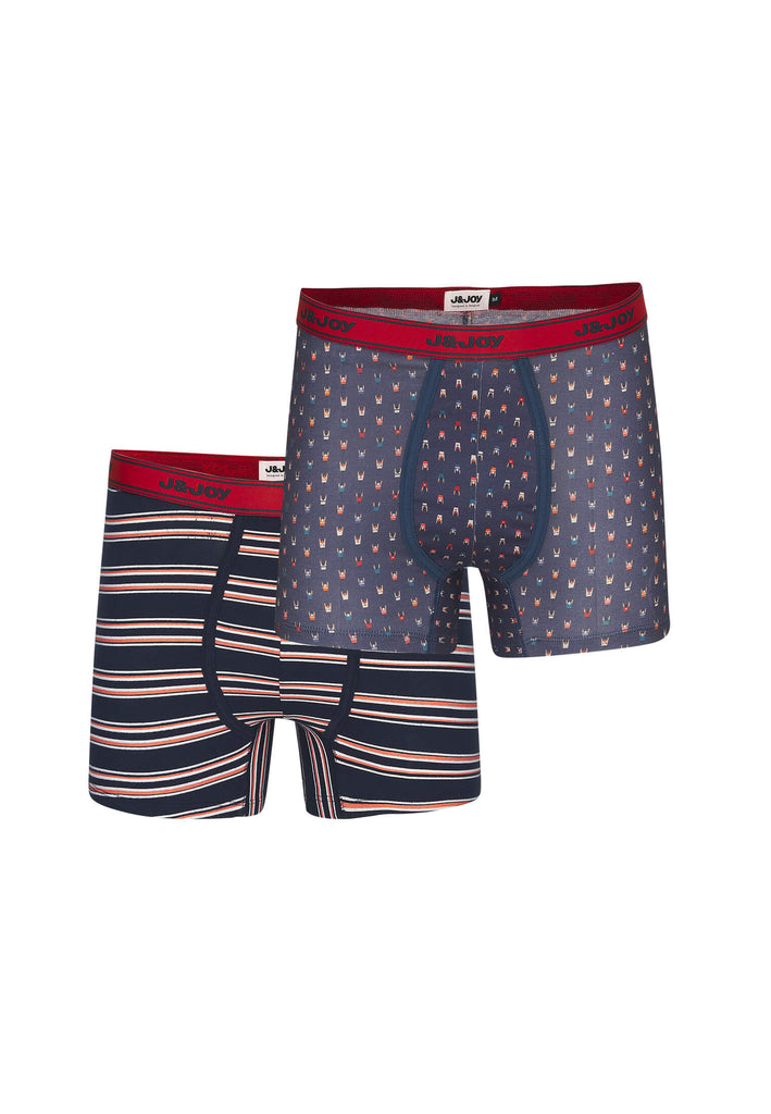Duo-Boxers Homme 02 Nyhavn Blue & Orange