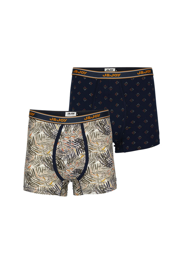 Duo-Boxers Homme 06 Boreal Blue & Orange