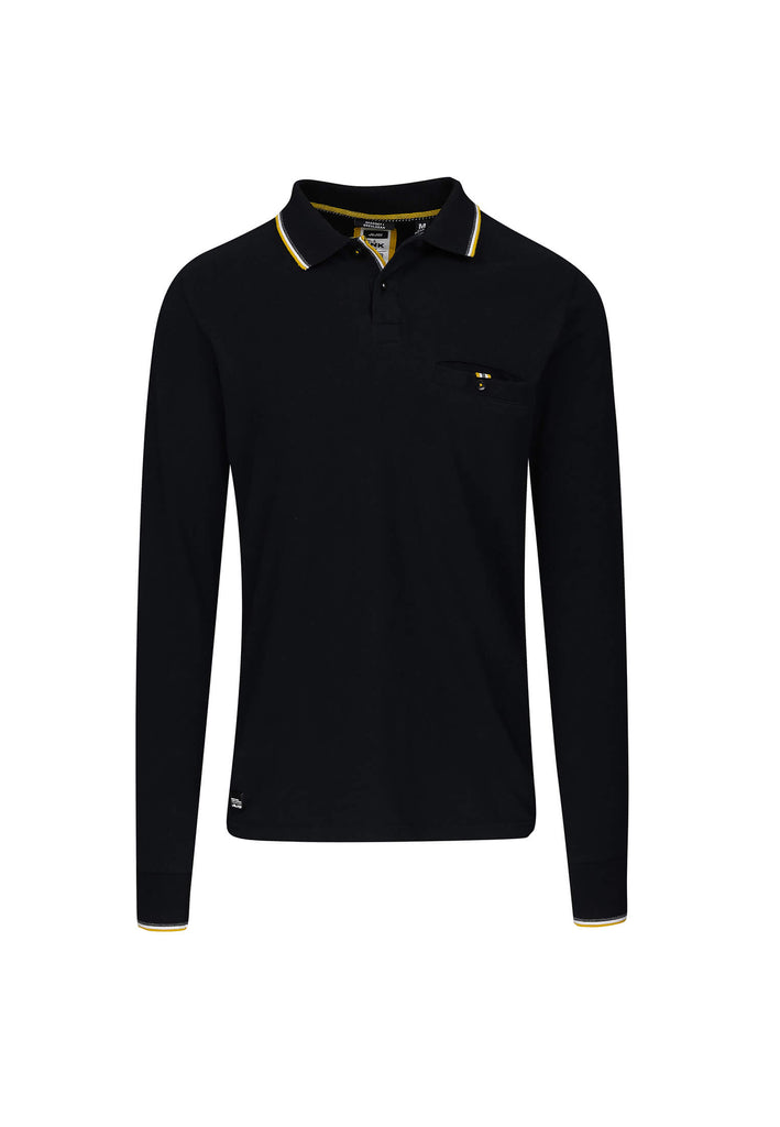jandjoy | Polos - Polo Homme 02 Fisherman Black Longues Manches.
