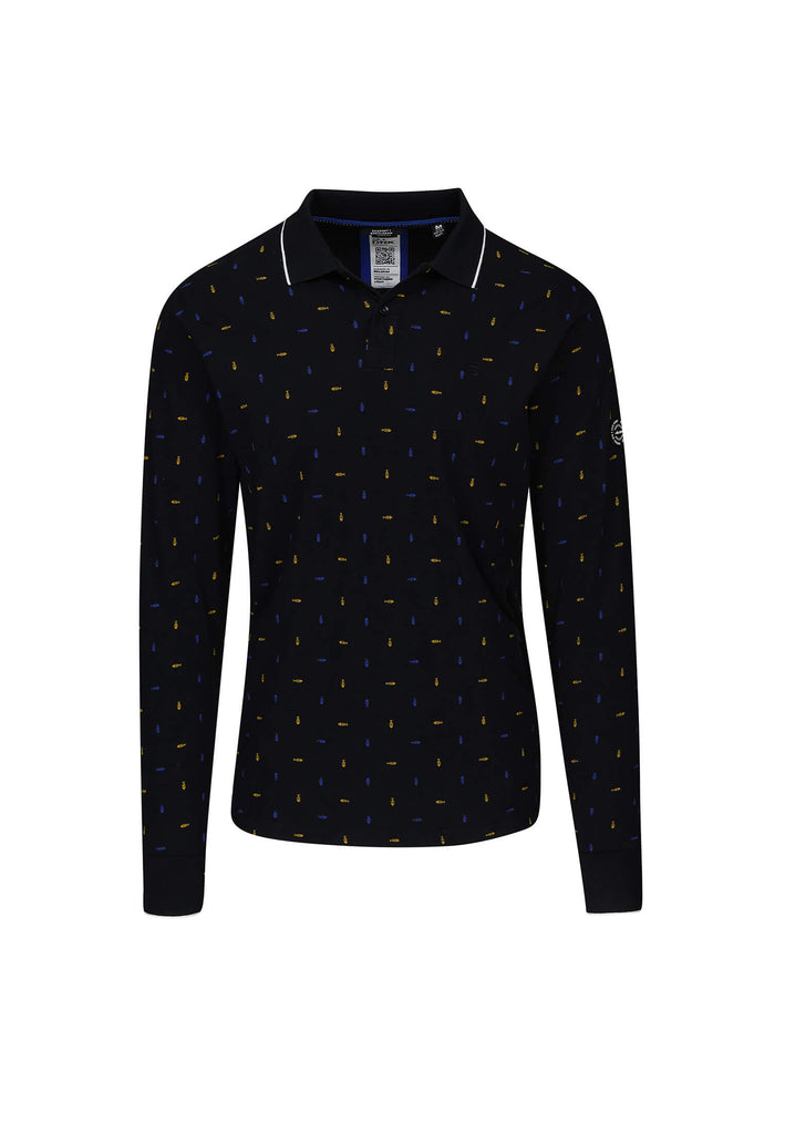 jandjoy | Polos - Polo Homme 03 Fisherman Fish Print Longues Manches.