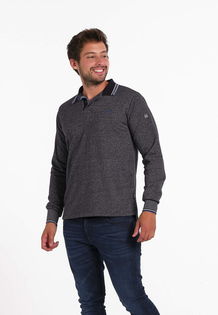 Polo Homme 06 Fisherman Grey Long Sleeves
