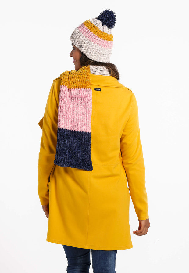 Bonnet Femme 02 Sea Side Beannie Grey-Pink-Yellow