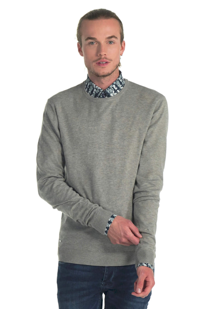 Pull Essentials Homme 01 Crewneck Light Grey | J&JOY