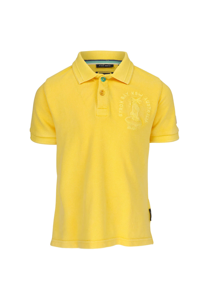 Polo Garçon 10 Byron Bay Yellow
