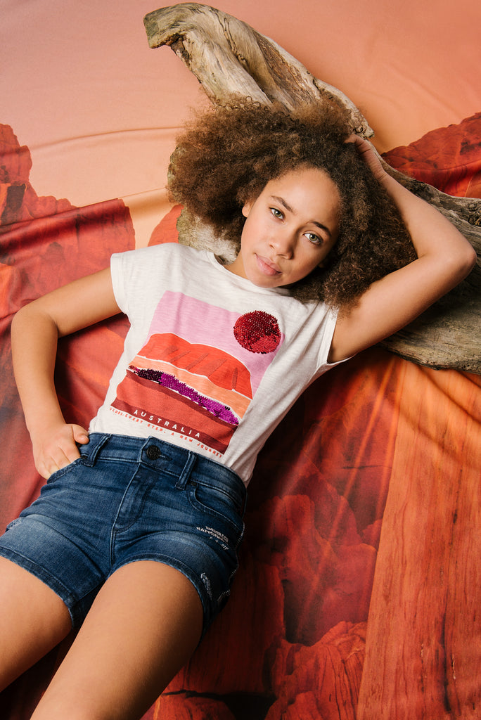 T-Shirt Fille 05 Northern Territory Uluru Paysage