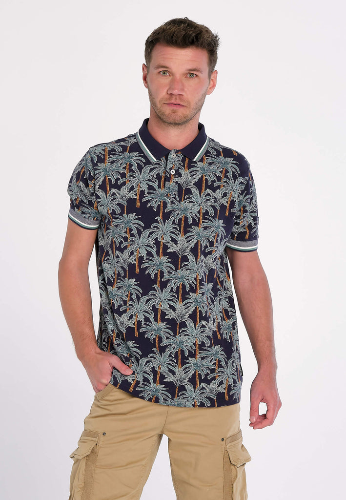 Polo Homme 16 Queensland Navy Palm