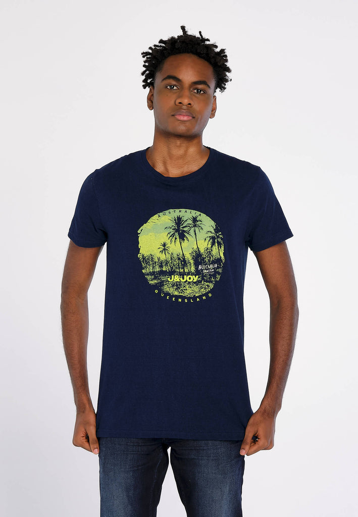 T-Shirt Homme 18 Queensland Navy Landscape