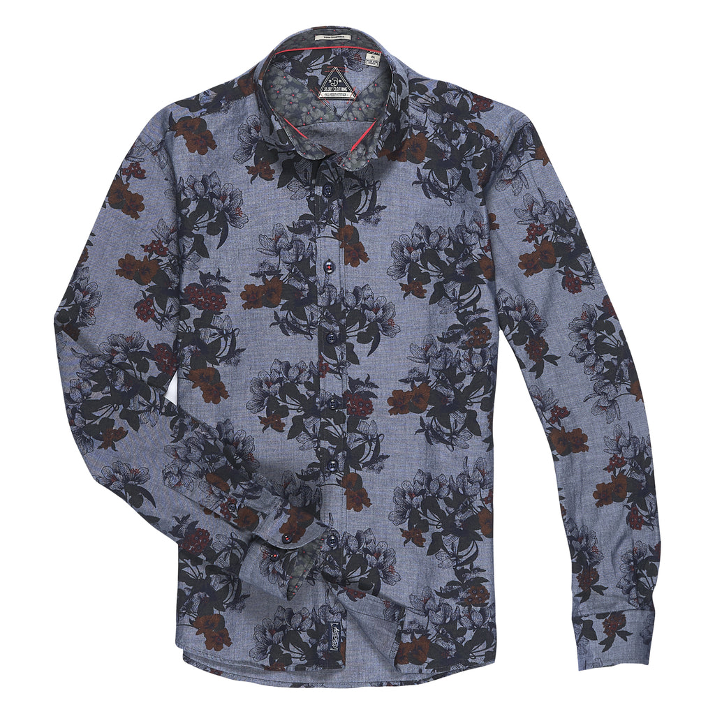 jandjoy | Chemises - Chemise 07 Chambray Flowers.