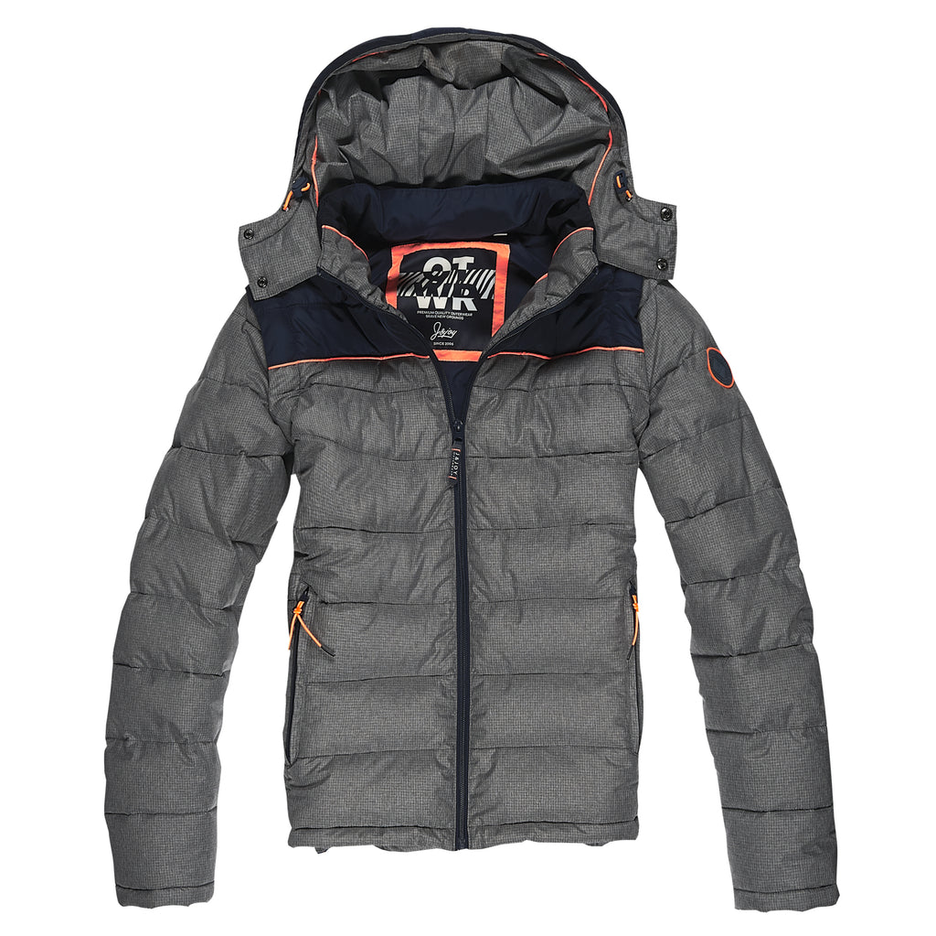 Veste Homme 05 Grey Orange Puffer | J&JOY