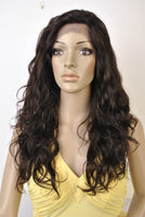 "Swiss Lace Wig. 100% Virgin Human Hair. Body Wave texture. 20"" Long. - BeautyGiant USA"