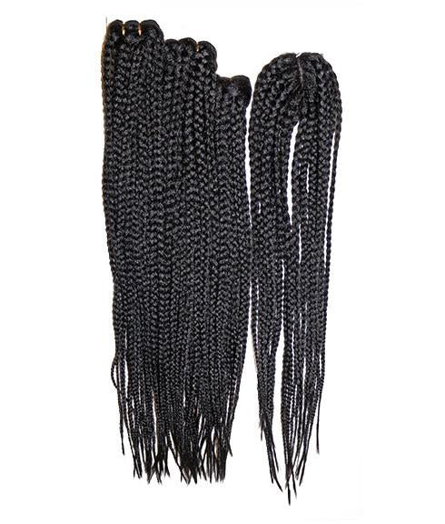 "Emerald's 3 Piece Box Braid with Closure (20"", 22"", 24"") - BeautyGiant USA"