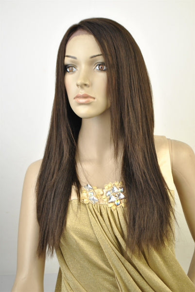 "SWISS LACE 100% VIRGIN HUMAN HAIR. SILKY YAKI TEXTURE. 20"" - BeautyGiant USA"