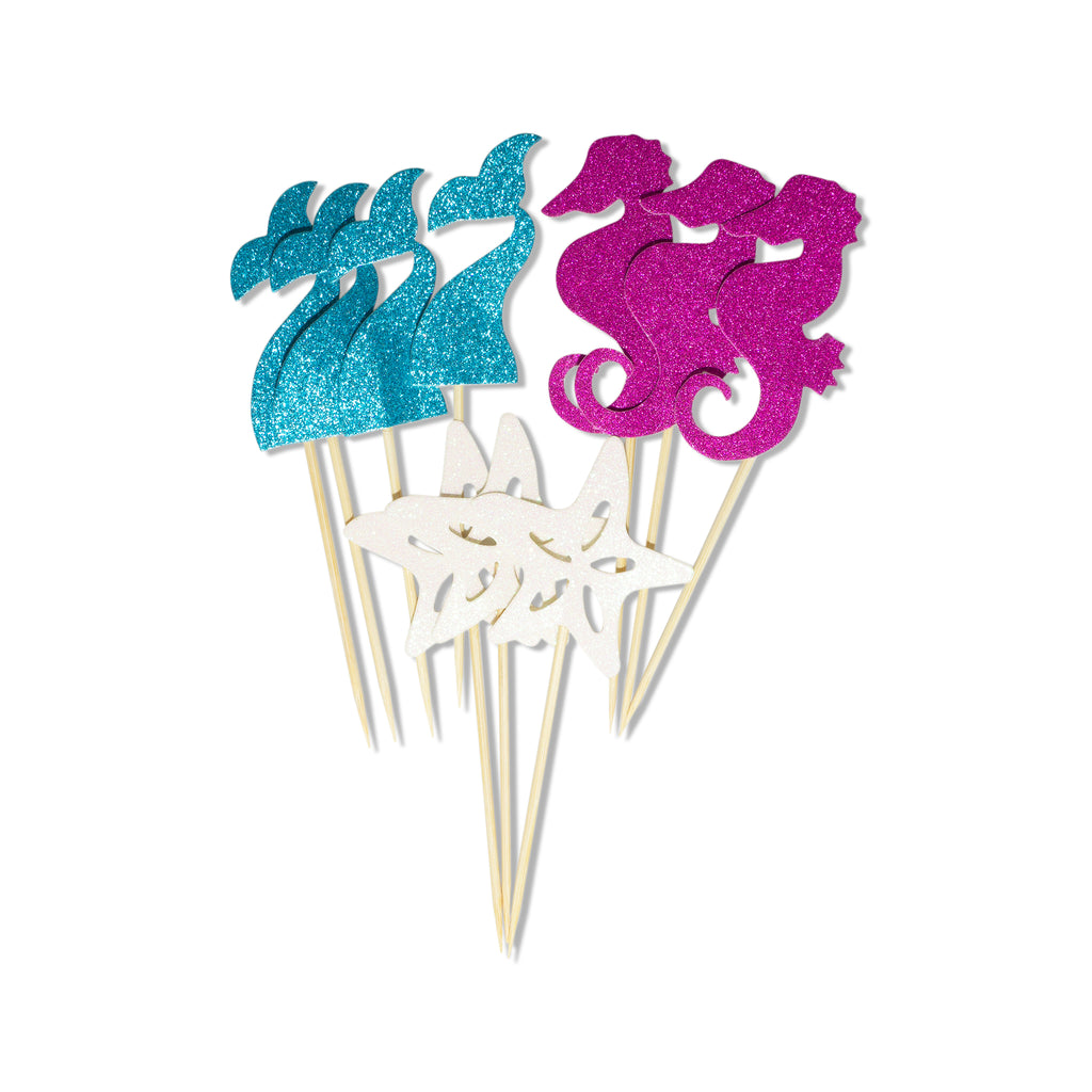 Let's Be Mermaids Cupcake Toppers
