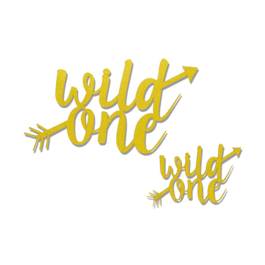 Wild One Gold Cake and Cupcake Topper Set