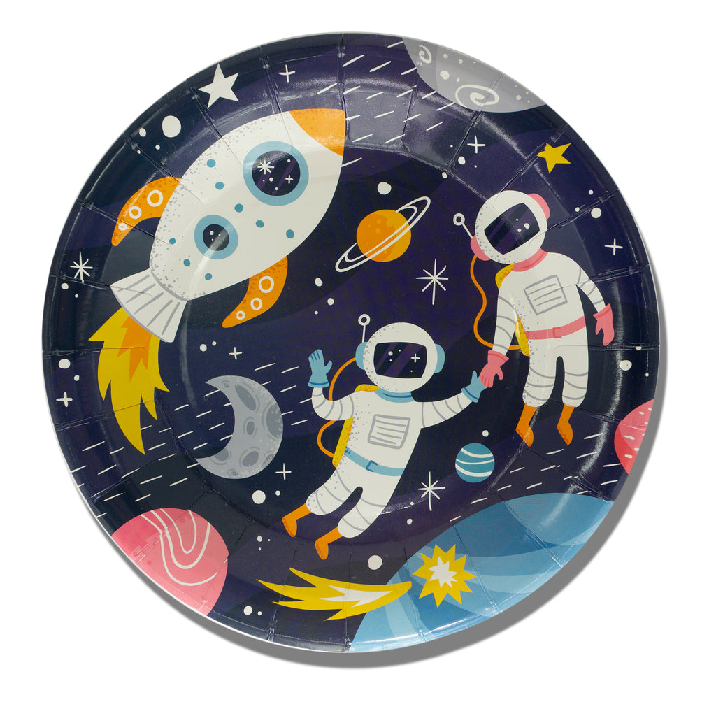 "9"" Shoot for the Moon Plates"
